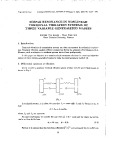 Simple resonance in nonlinear torsional vibration systems of three variable generalized masses
