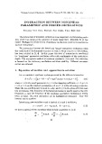 Interaction between nonlinear parametric and forced oscillations