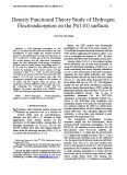 Density functional theory study of hydrogen electroadsorption on the pt(110) surfaces