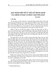 Giải thích một số từ việt cổ trong kinh của Minh Lý đạo và phật giáo Hòa Hảo