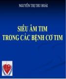 Bài giảng Siêu âm trong các bệnh cơ tim - Nguyễn Thị Thu Hoài