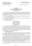 Kế hoạch số 01/KH-THĐL-LĐ