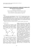 Synthesis and structural characteristics of platinum(II) complexes with N(4)-substituted thiosemicarbazones