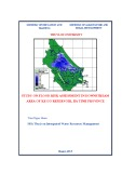 Thesis of master degree: Study on flood risk assessment in downstream area in Ke Go reservoir, Ha Tinh province