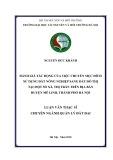 Luận văn Thạc sĩ chuyên ngành Quản lý đất đai: Đánh giá tác động của việc chuyển mục đích sử dụng đất nông nghiệp sang đất đô thị tại một số xã, thị trấn trên địa bàn huyện Mê Linh, thành phố Hà Nội