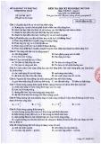 Đề thi học kì 2 môn Vật lí 12 năm 2017-2018 có đáp án - Sở GD&ĐT Tỉnh Đồng Tháp - Mã đề 531