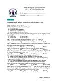 Đề thi học kì 2 môn Vật lí 12 năm 2017-2018 có đáp án - Trường THPT Nguyễn Du - Mã đề 132