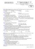 Đề thi học kì 2 môn Vật lí 12 năm 2017-2018 có đáp án - Trường THPT Yên Lạc 2 - Mã đề 568