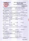 Đề thi học kì 2 môn Toán 12 năm 2017-2018 có đáp án - Sở GD&ĐT Tỉnh Đồng Tháp - Mã đề 108