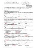 Đề thi học kì 2 môn Hóa học 12 năm 2017-2018 có đáp án - Trường THCS&THPT Võ Nguyên Giáp - Mã đề 123
