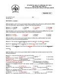 Đề thi học kì 2 môn Tiếng Anh 12 năm 2017-2018 có đáp án - Trường THPT Nguyễn Du