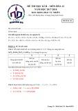 Đề thi học kì 2 môn Hóa học 12 năm 2017-2018 có đáp án - Trường THPT Nguyễn Du - Mã đề 132