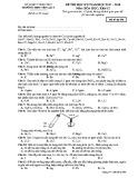 Đề thi học kì 2 môn Hóa học 12 năm 2017-2018 có đáp án - Trường THPT Yên Lạc 2 - Mã đề 896