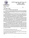 Đề thi học kì 2 môn Ngữ văn 12 năm 2017-2018 có đáp án - Trường THPT Nguyễn Du