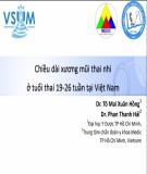 Đề tài: Chiều dài xương mũi thai nhi ở tuổi thai 19-26 tuần tại Việt Nam