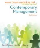 essentials of contemporary management (6/e): part 1