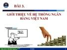 Bài giảng Nhập môn ngành Tài chính - Ngân hàng: Bài 3 - ThS. Lê Thị Minh Nguyên