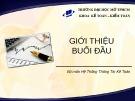Bài giảng Hệ thống thông tin kế toán 2: Giới thiệu môn học - Nguyễn Hoàng Phi Nam (2018)