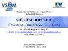 Bài giảng Siêu âm dopper ứng dụng trong sản phụ khoa