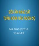 Bài giảng Siêu âm khảo sát tuần hoàn não ngoài sọ - ThS.BS Trần Thị Tuyết Lan