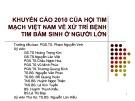 Khuyến cáo 2010 của hội tim mạch Việt Nam về xử trí bệnh tim bẩm sinh ở người lớn