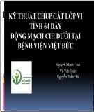 Đề tài nghiên cứu:  Kỹ thuật chụp cắt lớp vi tính 64 dãy động mạch chi dưới tại Bệnh viện Việt Đức