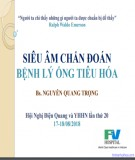 Siêu âm chẩn đoán bệnh lý ống tiêu hóa - BS. Nguyễn Quang Trọng