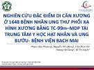 Đề tài: Nghiên cứu đặc điểm di căn xương ở 1648 bệnh nhân ung thư phổi xạ hình xương bằng TC 99m-MDP tại trung tâm y học hạt nhân và ung bướu - Bệnh viện Bạch Mai