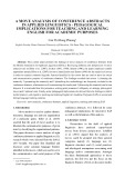 A move analysis of conference abstracts in applied linguistics - pedagogical implications for teaching and learning english for academic purposes