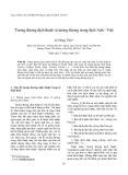 Tương đương dịch thuật và tương đương trong dịch Anh - Việt
