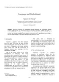 Language and embodiment