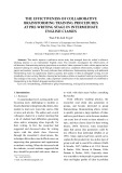The effectiveness of collaborative brainstorming training procedures at pre writing stage in intermediate English classes