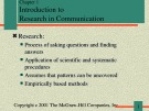 Lecture Communication research - Chapter 1: Introduction to research in communication