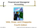 Lecture Financial and managerial accounting (4/e): Chapter 14 - Wild, Shaw, Chiappetta