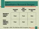 Lecture Communication research - Chapter 8: Quantitative research designs
