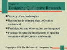 Lecture Communication research - Chapter 14: Designing qualitative research