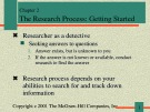 Lecture Communication research - Chapter 2: The research process: Getting started
