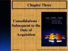 Lecture Advanced accounting (12/e): Chapter 3 - Joe B. Hoyle, Thomas F. Schaefer, Timothy S. Doupnik