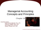 Lecture Fundamental accounting principles (21e) - Chapter 18: Managerial accounting concepts and principles
