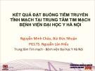 Đề tài: Kết quả đặt buồng tiêm truyền tĩnh mạch tại trung tâm tim mạch bệnh viện Đại học Y Hà Nội
