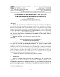 Evaluation of the surface water quality for aquaculture in Kien Giang province