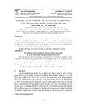 Khu hệ tảo silic phù du và chất lượng môi trường nước sông Ba Lai và Hàm Luông tỉnh Bến Tre