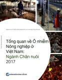 Tổng quan về ô nhiễm Nông nghiệp ở Việt Nam Ngành chăn nuôi 2017