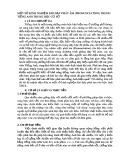 Sáng kiến kinh nghiệm: Một số kinh nghiệm khi dạy phát âm (pronunciation) trong Tiếng Anh trung học cơ sở