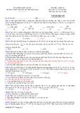Đề thi học kì 1 môn Vật lí 10 năm 2017-2018 có đáp án - Trường THPT chuyên Huỳnh Mẫn Đạt - Mã đề 177