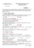 Đề thi học kì 2 môn Hóa học 10 năm 2017-2018 có đáp án - Trường THPT Phan Ngọc Hiển - Mã đề 228