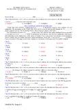 Đề thi học kì 1 môn Tiếng Anh 10 năm 2017-2018 có đáp án - Trường THPT chuyên Huỳnh Mẫn Đạt - Mã đề 376