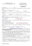 Đề thi học kì 1 môn Tiếng Anh 12 năm 2017-2018 có đáp án - Trường THPT chuyên Huỳnh Mẫn Đạt - Mã đề 321 (Khối chuyên)