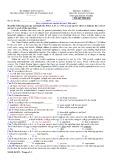 Đề thi học kì 1 môn Tiếng Anh 12 năm 2017-2018 có đáp án - Trường THPT chuyên Huỳnh Mẫn Đạt - Mã đề 831 (Khối cơ bản)