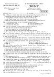 Đề thi học kì 2 môn Lịch sử 12 năm 2017-2018 có đáp án - Trường THPT Lý Thái Tổ - Mã đề 485
